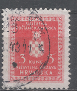Croatia 1942. Scott #O6 (U) Croatian Coat Of Arms * - Croatie