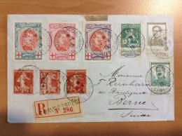 Cachet  LE HAVRE Spécial - Recommandé De 1915 Pour La Suisse - Timbres Belges - Belgique - Marcophilie