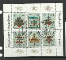 DEUTSCHLAND DDR 1989 Kleinbogen O