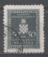 Croatia 1943. Scott #O18 (U) Croatian Coat Of Arms * - Croatie