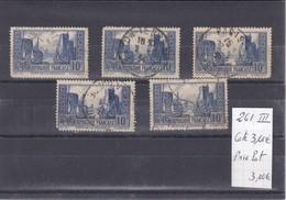 France - Lot De 5 Timbres  N°261 Oblitérés  - Port De La Rochelle - Used Stamps