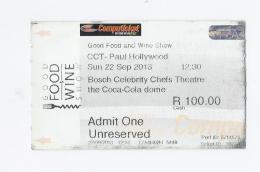 Ticket - Good Food & Wine - Paul Hollywood-South Africa - Toegangskaarten