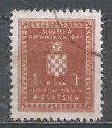 Croatia 1943. Scott #O20 (U) Croatian Coat Of Arms * - Croatie