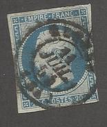 FRANCE - N°14A OBLITERE AVEC CAD DU 11/07/1854 - COTE YT : 2€
