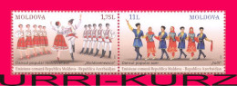 MOLDOVA 2015 Azerbaijan Joint Issue National Traditional Folk Dance Dances 2v Se-tenant Mi 928-929Zd MNH