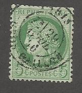FRANCE - N°53 OBLITERE AVEC CAD PARIS GALLIENI? DU 29/04/1876 - COTE YT : 10€