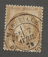 FRANCE - N°55 OBLITERE AVEC CAD MARSEILLE DU 07/04/1876? - COTE YT : 5€