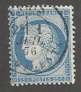 FRANCE - N°60C OBLITERE AVEC CAD PARIS MAGENTA DU 01/07/1876 - COTE YT : 2€