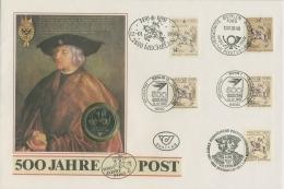 Bund 1990 500 Jahre Post Alle 5 Gemeinschaftsausgaben Auf Numisbrief (SG9095)
