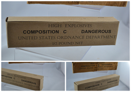 REPRODUCTION Charge Explosive Composition C - US - Militaria