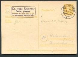 BRITISCHE ZONE P905 Postkarte Gebraucht Soltau-Rabenstein 1946 - Bizone