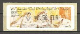 Frankreich France 2010 2e Salon Du Club Philatelique De L'Elysee Neuf Mint Postfrisch ATM Michel Nr. 70 0,56 - 2010-... Illustrated Franking Labels