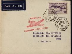 France Italie Avion Aviation 1er Vol Paris Rôme Hexagonal YT Ae 7
