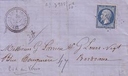 PYRENEES ORIENTALES - LA TOUR DE CAROL - T24 - LE 30 SEPTEMBRE 1867 - N°22 OBLITERATION GC - INDICE 14.