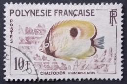 Polynésie Française  YT N° 19  (o)  POISSON . CHAETODON