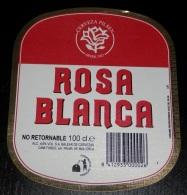 ETIQUETTE  BIÉRE  ROSA BLANCA   - SPAIN - Beer
