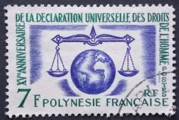 Polynésie Française YT N° 25  (o)  DECLARATION DES DROITS DE L'HOMME