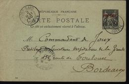 Egypte France Entier Sage Surchargé Port Said Lettre De La Poste Française De Port Said Bureau Français à L'étranger