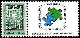 Hungary - 2016 - Alp-Adria 2016 International Stamp Exhibition - Mint Personalized Stamp - Hungría