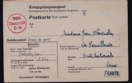 Stalag Starflagers 369 Disciplinaire Représaille Kobierzyn / Cracovie Prisonnier De Guerre 39/45 Censure - 1939-44: 2. WK