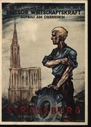 Guerre 39/45 Carte De Propagande Du Nazisme à Strasbourg Timbre Alsace Lorraine YT N°11