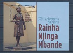 Angola - 2013 - 350º Aniversario Da Morte Da Rainha Njinga Mbande  - MNH / ( ** )