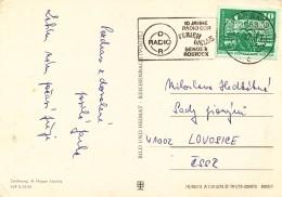 K9760 - DDR (1976) 2253 Seebad Bansin: DDR RADIO, 10 Year Radio DDR (postcard: Insel Usedom); Tariff: 10 Pf