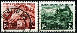 DDR - Michel 380 / 381 - OO Gestempelt (A) - Leipziger Herbstmesse 53