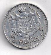 REF 1  : Monnaie MONACO 5 Francs Alu 1945 - Monaco