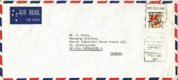 Australia Air Mail Cover Sent To Denmark Melbourne 5-12-1977 Single Franked