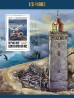 CENTRAL AFRICA 2016 - Lighthouses S/S Official Issue