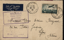 Avion Aviation Premier Service Postal Aérien Grenoble Foire Avion YT 8 Ae