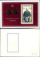 84303) Germania Orientale-1970-l100 Ann. Nascita Di Lenine-BF-26-nuovo