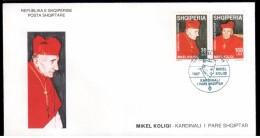 Albania Stamp 1998. Mikel Koliqi, Albanian Catholic Cardinal. People On Stamps. FDC MNH. Mich. 2672-2673