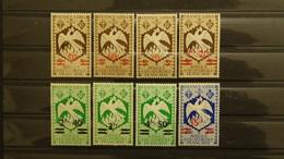 """AEF 1945 N°198 à 205, Série """"de Londres"""" Avec Surchage Complète (8 Valeurs Neuves** TB), Cote 8,50 €"""