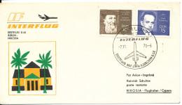 Germany DDR First Flight Cover Interflug IL-62 Berlin  - Nikosia 7-11-1970
