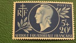 AEF 1944/45 N°197 Et La Paire N 206/207 (Félix Eboué), 3 Valeurs Neuves** TB, Cote 3,85 €
