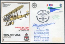 1970 GB BFPS Royal Air Force Museum Cover SC1 / Concorde Farnborough Air Show, RAF Upavon - 1952-.... (Elizabeth II)
