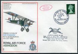 1969 GB Royal Air Force Museum Cover SC5 / RAF Abingdon Parachute Delivery No 46 Squadron - 1952-.... (Elizabeth II)