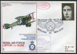 1969 GB Royal Air Force Museum Cover SC 7 / RAF Linton On Ouse, Bristol F 2B BFPS - 1952-.... (Elizabeth II)