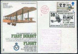 1969 GB Royal Air Force Museum Cover SC 9 / RAF Brize Norton BFPS Transatlantic Flight Newfoundland Vickers Vimy Clifton - 1952-.... (Elizabeth II)