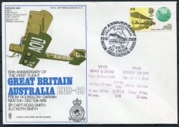 1969 GB Royal Air Force Museum Cover SC 11 / Darwin Australia Vickers Vimy BFPS RAF Lyneham Singapore - 1952-.... (Elizabeth II)
