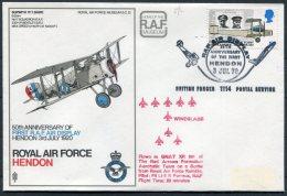 1970 GB Royal Air Force Museum Cover SC 12 / Sopworth Snipe BFPS RAF Hendon Red Arrows Wineglass - 1952-.... (Elizabeth II)