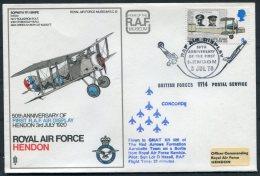 1970 GB Royal Air Force Museum Cover SC 12 / Sopworth Snipe BFPS RAF Hendon Red Arrows Concorde - 1952-.... (Elizabeth II)