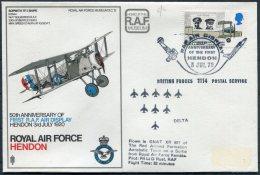 1970 GB Royal Air Force Museum Cover SC 12 / Sopworth Snipe BFPS RAF Hendon Red Arrows Delta - 1952-.... (Elizabeth II)