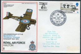 1970 GB Royal Air Force Museum Cover SC 13 / BFPS RAF Halton Bordeaux France RFA Abingdon - 1952-.... (Elizabeth II)