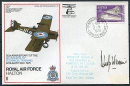 1970 GB Royal Air Force Museum Cover SC 13 / BFPS RAF Halton Rochefort France RAF Abingdon SIGNED - 1952-.... (Elizabeth II)