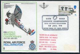 1970 GB Royal Air Force Museum Cover SC 14 / BFPS RAF Hullavington Aerobatic Championships - 1952-.... (Elizabeth II)