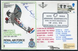 1970 GB Royal Air Force Museum Cover SC 14 / BFPS RAF Hullavington Aerobatic Championships SIGNED - 1952-.... (Elizabeth II)