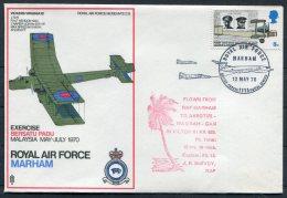 1970 GB Royal Air Force Museum Cover SC 15 / BFPS RAF Marham Akrotiri Vickers Virginia 10 Malaysia - 1952-.... (Elizabeth II)
